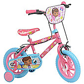 "Doc McStuffins 12"" Kids' Bike with Stabilisers"
