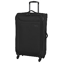 IT Luggage Megalite 4-Wheel Suitcase, Black Medium