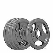 Bodymax Olympic Cast Iron Tri-Grip Weight Disc Plates - 4 x 2.5kg