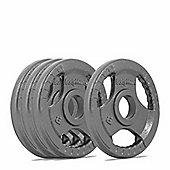 Bodymax Olympic Cast Iron Tri-Grip Weight Disc Plates - 4 x 2.5kg