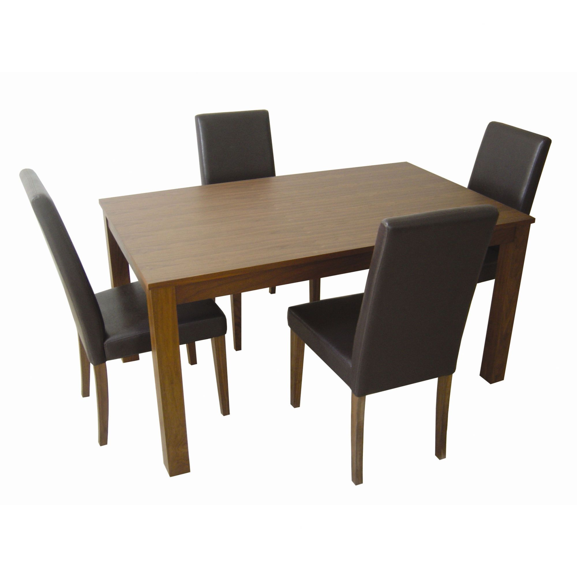 Home Zone Chiltern 5-Piece Large Dining Set in Brown at Tesco Direct