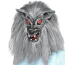 Smiffy's - Werewolf Mask - with hair (full overhead)