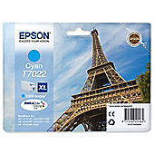 Epson T7022 High Ink Cartridge For Epson WorkForce Pro 4000 Series Printers - Cyan