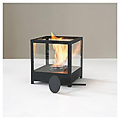 Ethanol Fire Square With Glass Sides