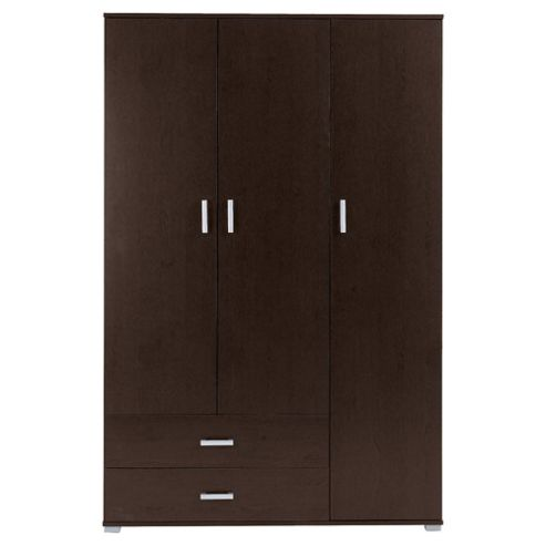 Fresno 3 Door Wardrobe, Brown
