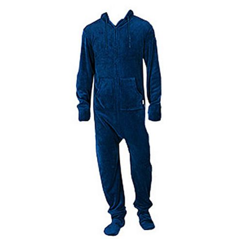 Hooded Onesie for Adults - Navy (Large)