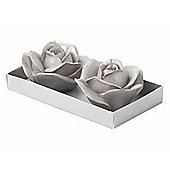 Parlane Set of Two Pretty Rose Candles - 8cm