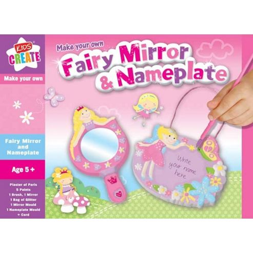 Make Your Own Fairy Mirror & Door Name Plate