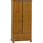 Home Essence Balham Wardrobe with 2 Drawers - Pine