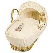 Clair de Lune Tippy Tumble Palm Moses Basket - Cream