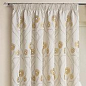 Rectella Montrose Cream Floral Jacquard Curtains -112x229cm