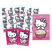 Hello Kitty Wrapping Paper, Birthday Card and Gift Tags Pack