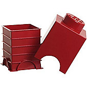 LEGO Storage Brick 1 Red