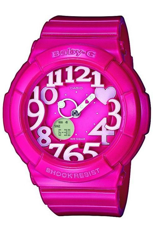 Casio BGA130/4BER Baby-G Watch with World Time - Pink