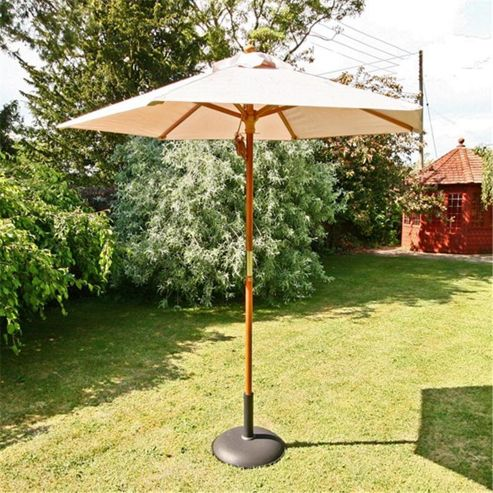 buy sturdi 2m hardwood frame garden parasol black from. Black Bedroom Furniture Sets. Home Design Ideas