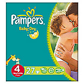 Pampers Baby Dry Size 4 Carry Pack - 27 nappies