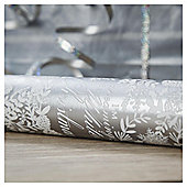 Tesco Silver Foliage Christmas Wrapping 4m