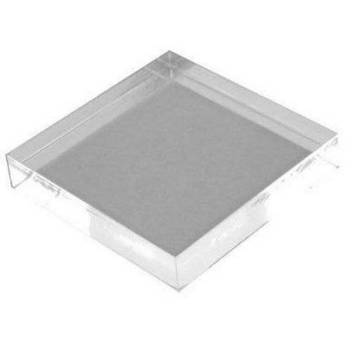 Clear Acrylic Stamp Block 51mm x 51mm x 10mm deep