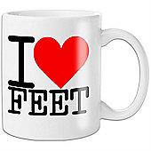 I Love Feet Mug