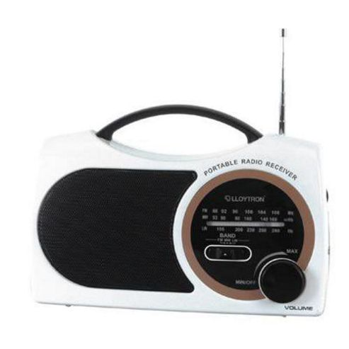 Lloytron N325BK Celebrity 3 Band AC/DC Portable Radio - White