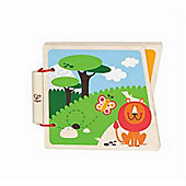 Hape At the Zoo Wooden Book