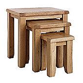 Westbury Reclaimed Oak Nest of Tables