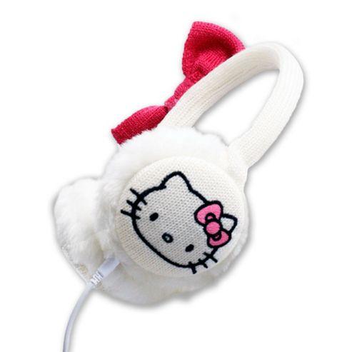 Hello Kitty Earmuffs White