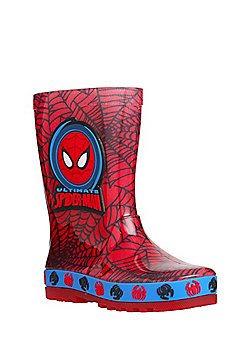 Marvel Spider-Man Light Up Wellies - Red