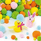 Pastel Pom Poms Craft Value Pack (Pack of 200)