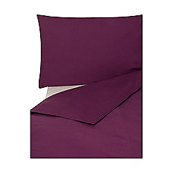 Egyptian Cotton Duvet Cover Single Purple