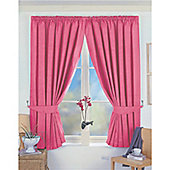 Dreams and Drapes Norfolk 3 Pencil Pleat Blackout Lined Curtains 46x72 inches (116x182cm) - Pink