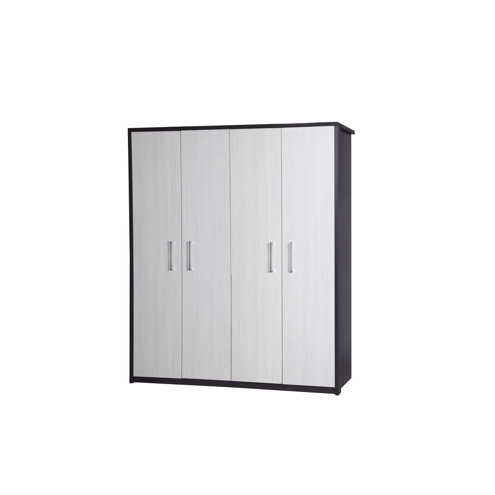 Alto Furniture Avola 4 Door Wardrobe - Grey Carcass With White Avola at Tescos Direct