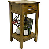 Regia - Solid Wood Storage Telephone / End Table - Walnut