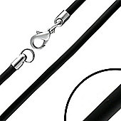 Urban Male Plain Black Rubber 24in Necklace 3mm Wide