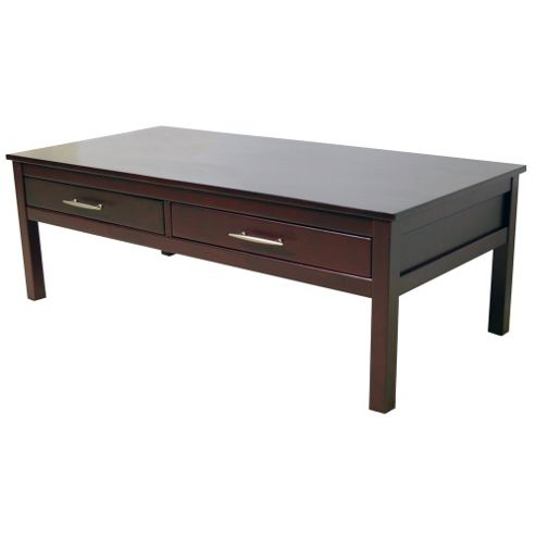 Solid Wood Storage Coffee Table - Wenge