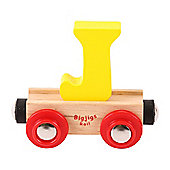 Bigjigs Rail Rail Name Letter J (Yellow)