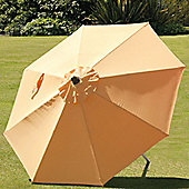 SunTime 2.7m Milano Push Up Parasol - Bright Yellow