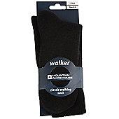 Unisex Walker Walking Sock Hiking Boot Trekking Socks 1 Pair - Black