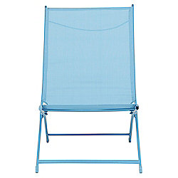 Metal Frame Folding Deckchair, Aqua