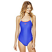 Speedo Endurance®10 Contrast Trim Muscle Back Swimsuit - Blue