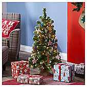 3ft Christmas Tree, Frosted Emperor Tree in Jute Bag
