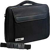 Techair TAN1103 Classic 1 Compartment Clam Case (Black) for 15.6 inch Laptops