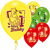9' Disney Winnie The Pooh 1st Birthday (6pk)