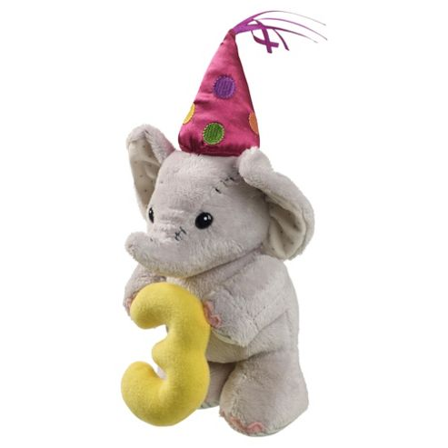 3rd Birthday Elephant Soft Toy