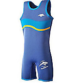 Konfidence Boys Warma Wetsuit Blue Wave 6-7 Years