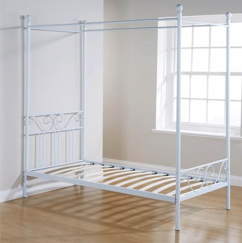 Buy Valufurniture Brunswick Four Poster Bed Frame White