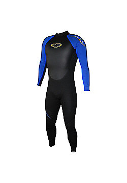 Mens Full Suit 2.5mm Black/Blue MED 36/38 chest
