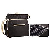 Minene City Changing Bag, Black & Silver