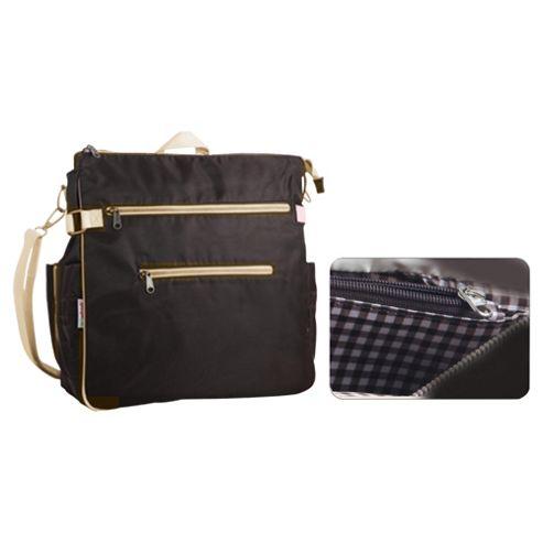 Minene City Changing Bag, Black & Silver