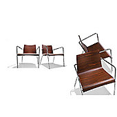 Parri Big Easy Lounge Armchair - Lacquer Rosewood